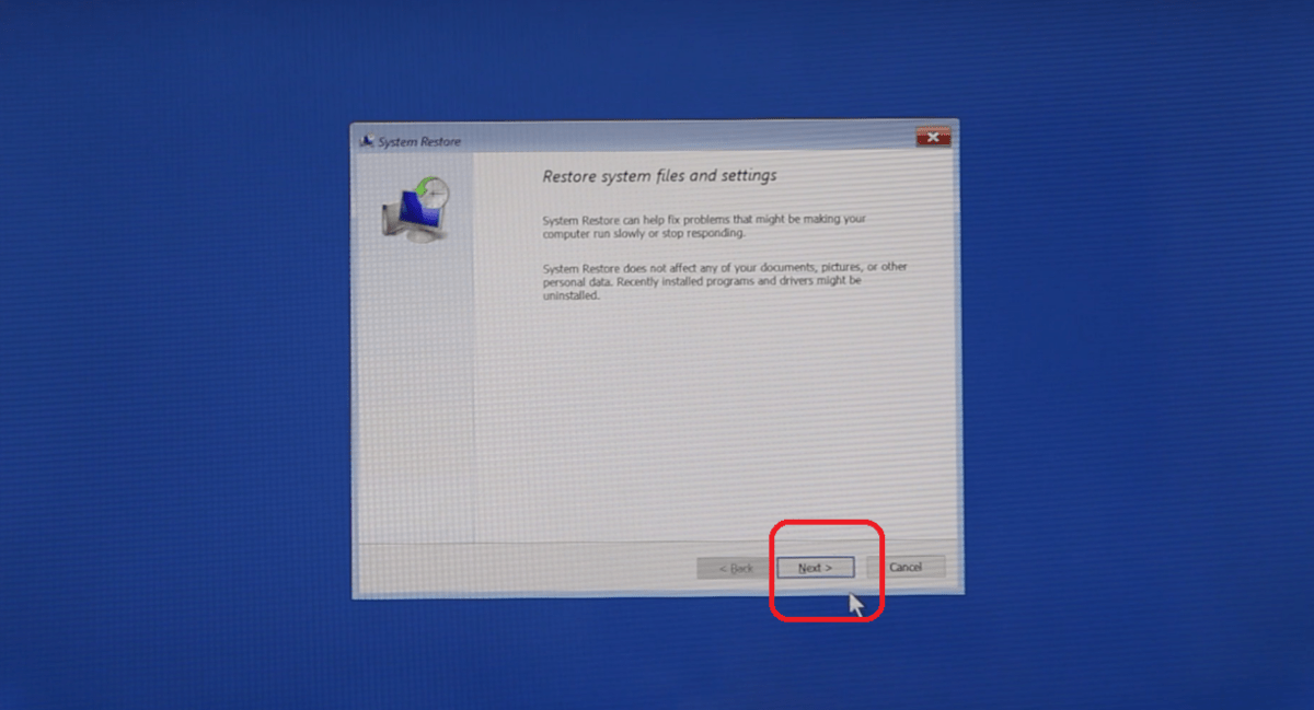 System Restore If You Can't Start Your Computer