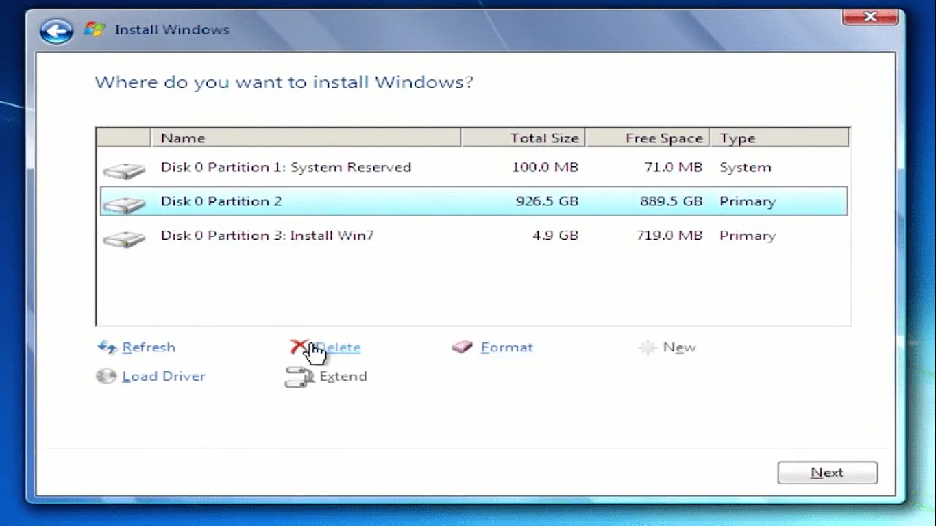 Install windows after replacing Hard drive
