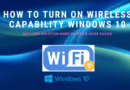 How To Turn On Wireless Capability Windows 10