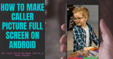 How to make caller picture full screen on android