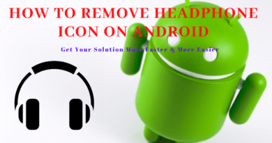 How to remove headphone icon on android