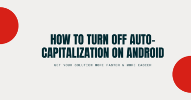 How to turn off auto-capitalization on android
