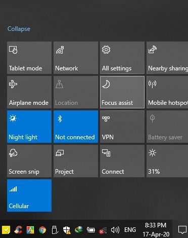 How To Enable and Disable Quiet Hours by Focus Assist from Action Center