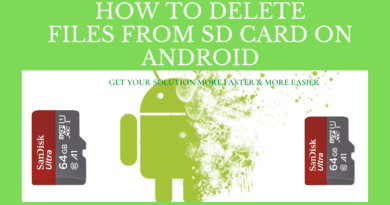 How To Delete Files From SD Card On Android