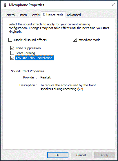 How to change mic sensitivity windows 10