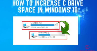 How to Increase C Drive Space in Windows 10