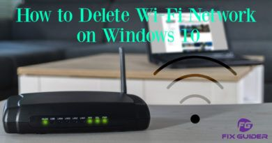 How to Delete Wi-Fi Network on Windows 10