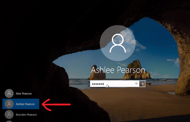 How to Switch Users on windows 10
