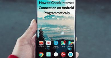 How to Check Internet Connection on Android Programmatically
